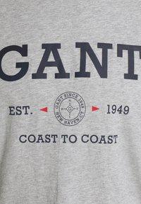 GANT - NAUTICAL - Print T-shirt - grey melange - 2