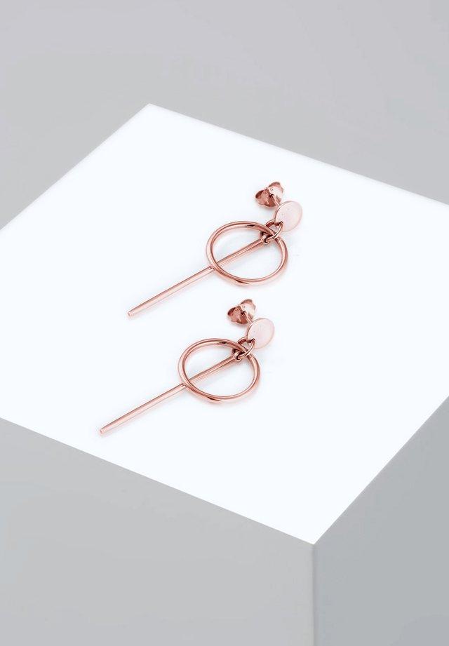 CIRCLE STICK BASIC - Pendientes - rosegold-coloured