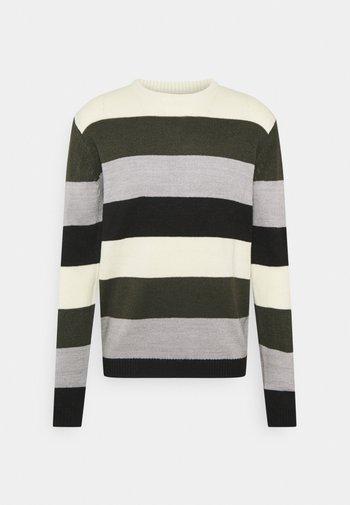 STRIPE - Pullover - offwhite/olive