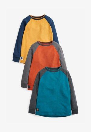 3 PACK LONG SLEEVE  - Long sleeved top - blue/grey/orange