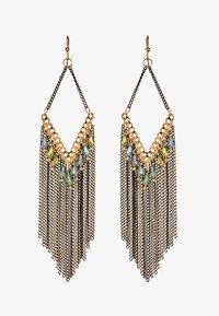 SUSN - Earrings - gold-coloured/schwarz