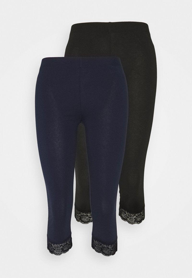 Anna Field Petite - 2 PACK - Leggings - Trousers - black/dark blue
