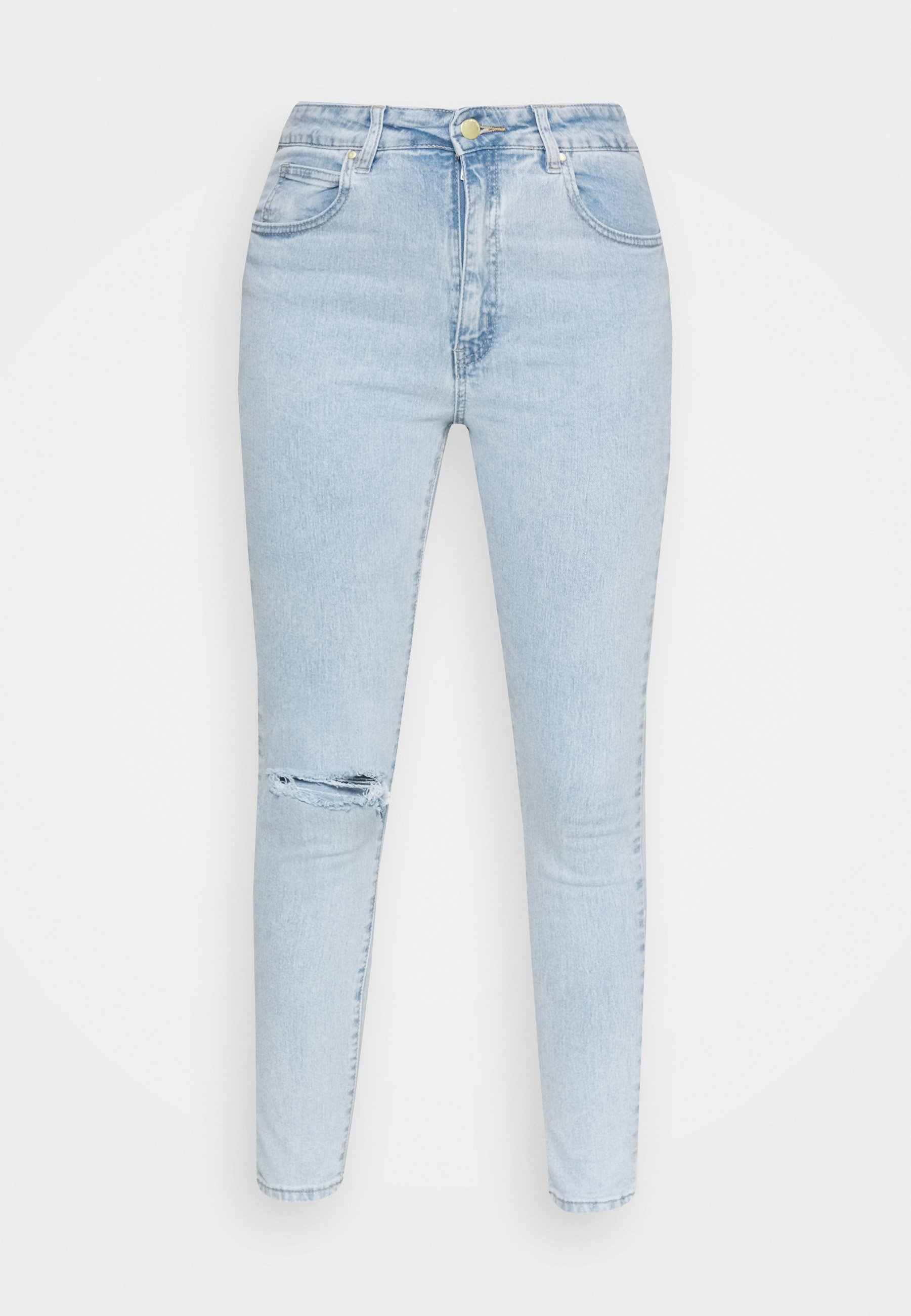 Women HIGH RISE CROPPED - Jeans Skinny Fit - addis blue