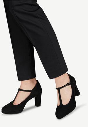 WOMS SLIP-ON - Platform heels - black