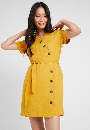 Shirt dress - brass yellow
