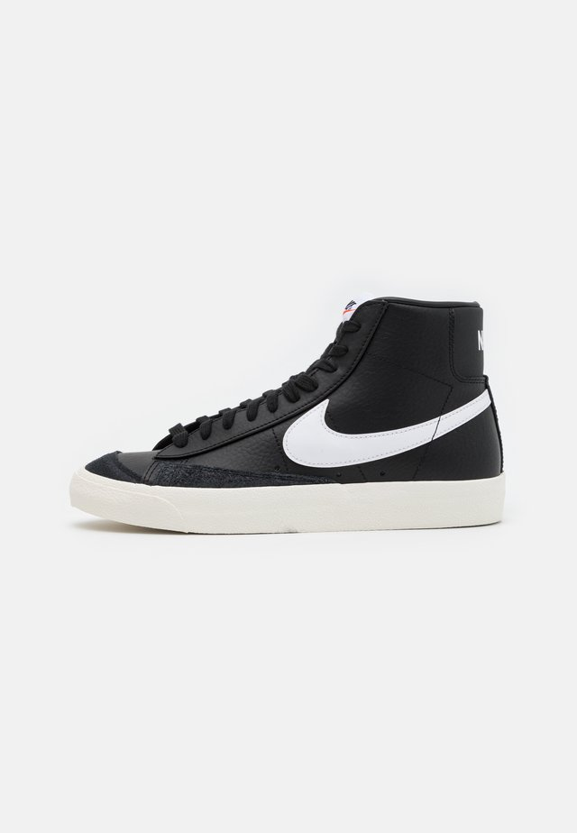 BLAZER MID '77 - Sneakers hoog - black/white/sail/team orange