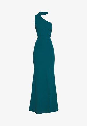 HALTER NECK WITH STRAP DRESS - Společenské šaty - teal blue