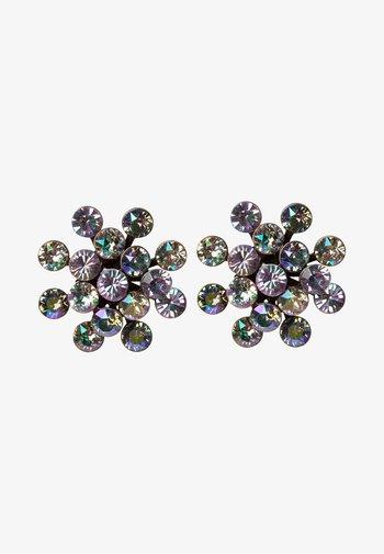 MAGIC FIREBALL - Earrings - yellow/lila antique/silver-coloured