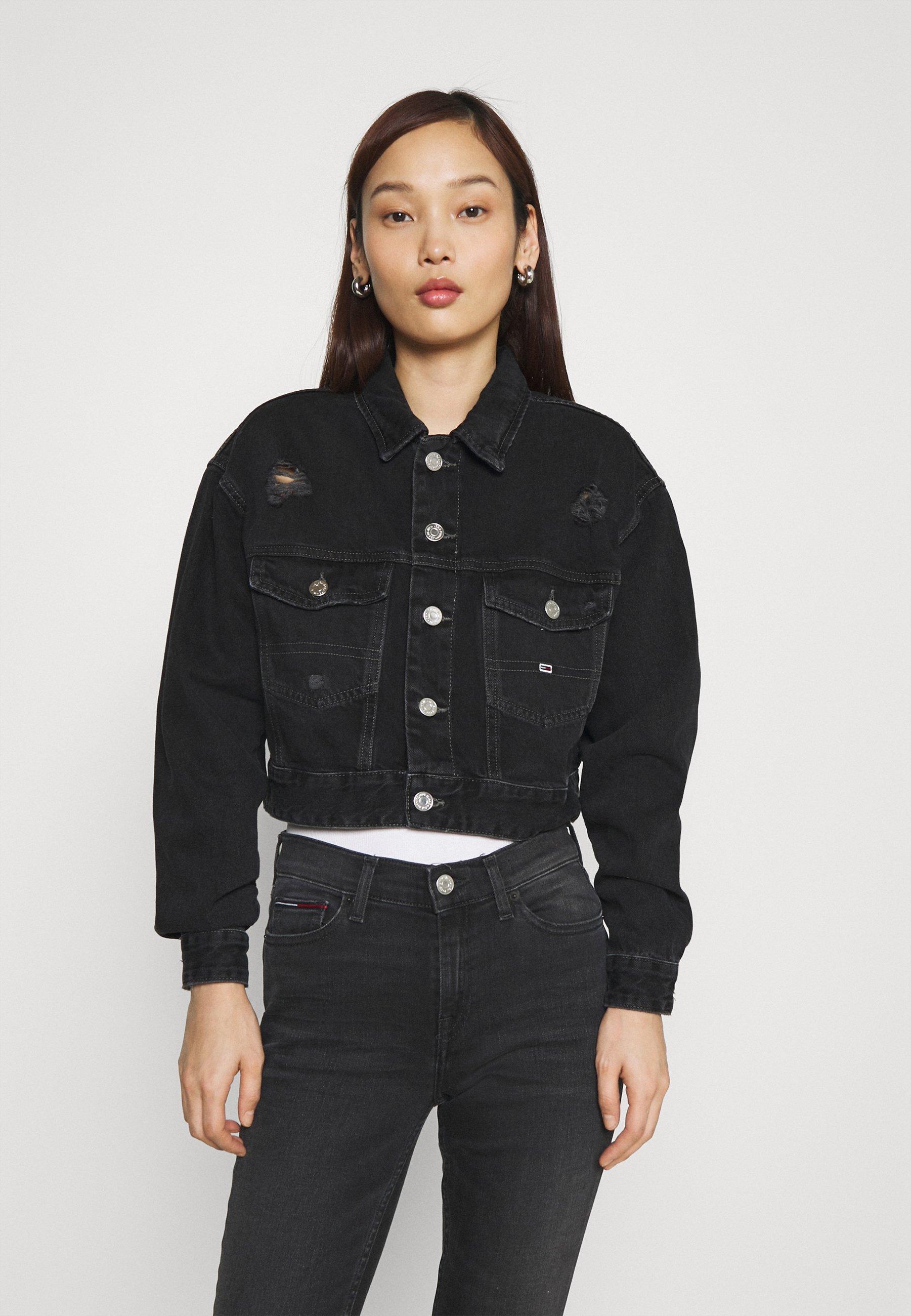 Femme CROPPED TRUCKER JACKET - Veste en jean