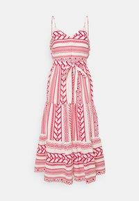 Vero Moda Petite - VMDICTHE SINGLET ANCLE DRESS VIP  - Maxi šaty - birch/dicthe/goji berry - 0