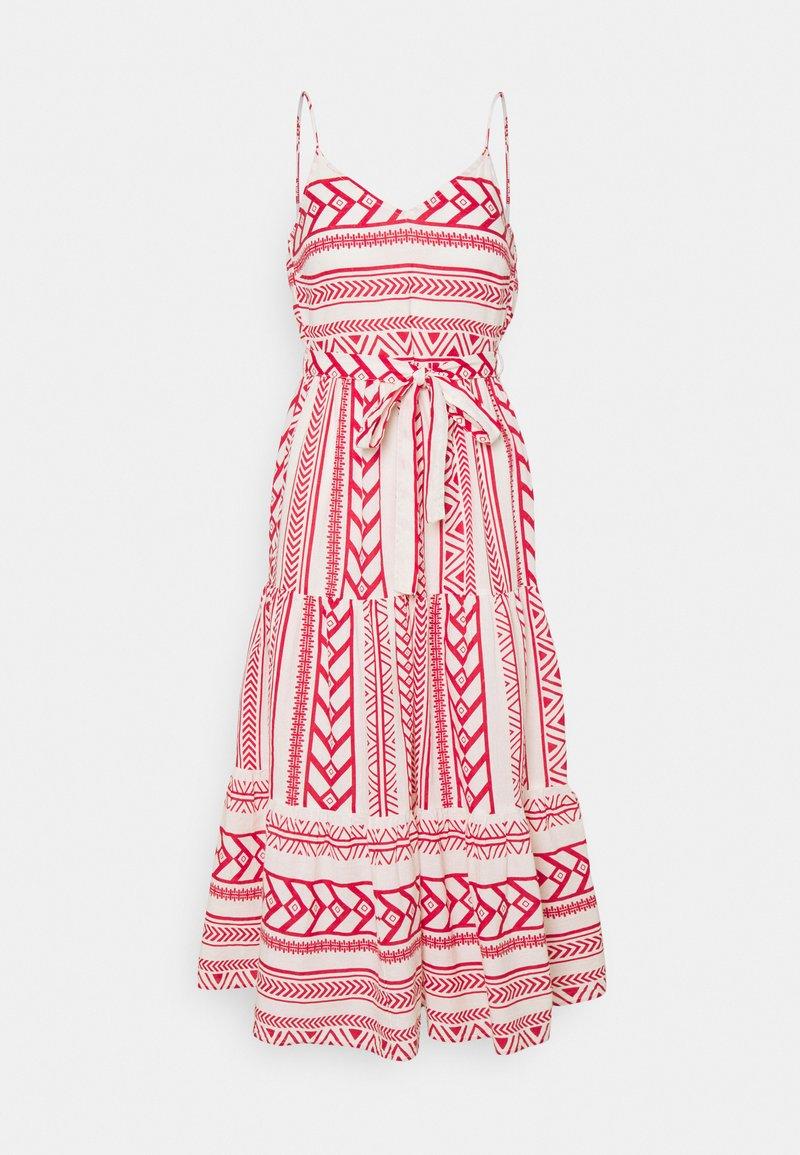 Vero Moda Petite - VMDICTHE SINGLET ANCLE DRESS VIP  - Maxi šaty - birch/dicthe/goji berry