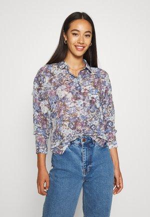 SALIHA - Button-down blouse - sky blue