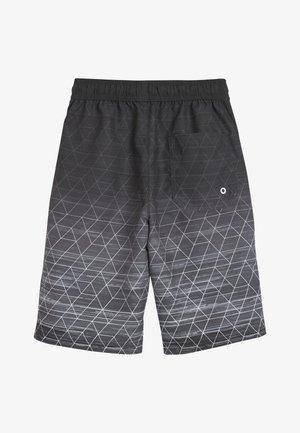 BLACK GEO SWIM BOARD SHORTS (3-16YRS) - Swimming shorts - black