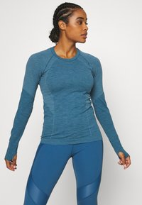 Sweaty Betty - ATHLETE SEAMLESS WORKOUT - Sports shirt - stellar blue - 0