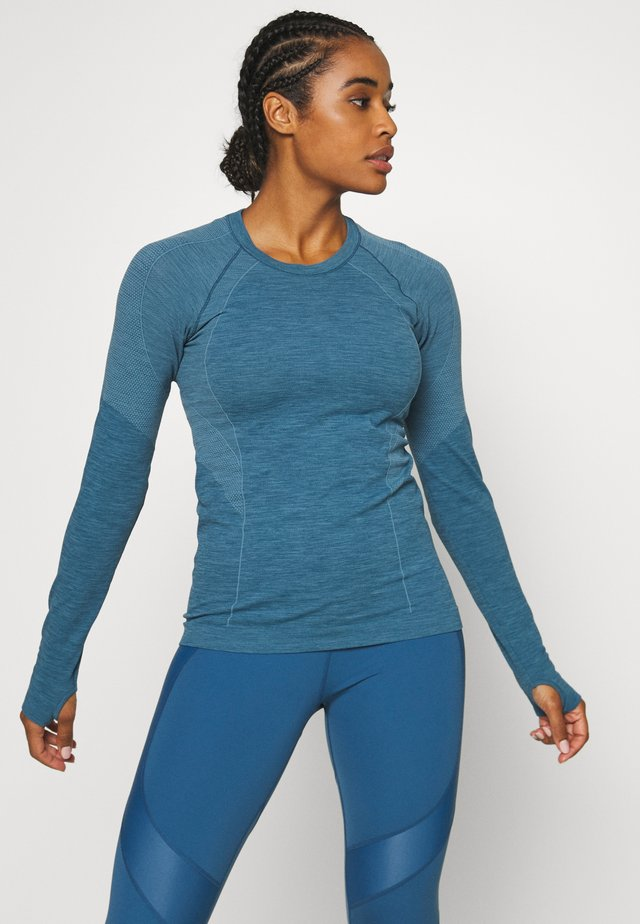 ATHLETE SEAMLESS WORKOUT - T-shirt sportiva - stellar blue