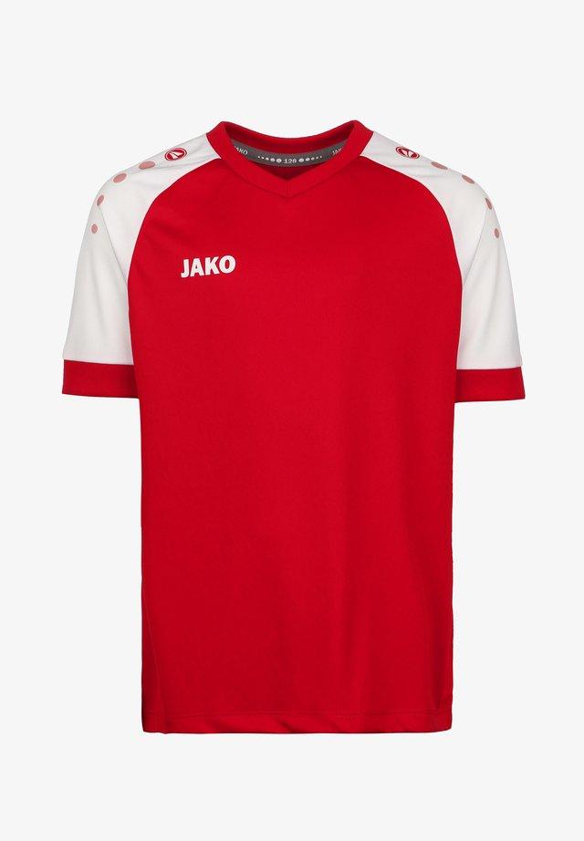 CHAMP  - Print T-shirt - sportrot / weiss
