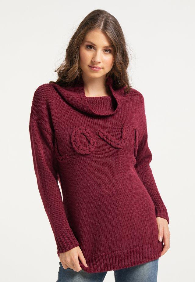 Sweter - dunkelrot