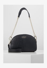 Guess - KAYLYN MINI CROSSBODY TOP ZIP - Handbag - black - 1