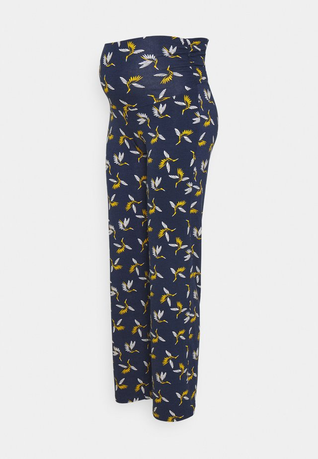 BADYS - Trousers - navy blue/yellow