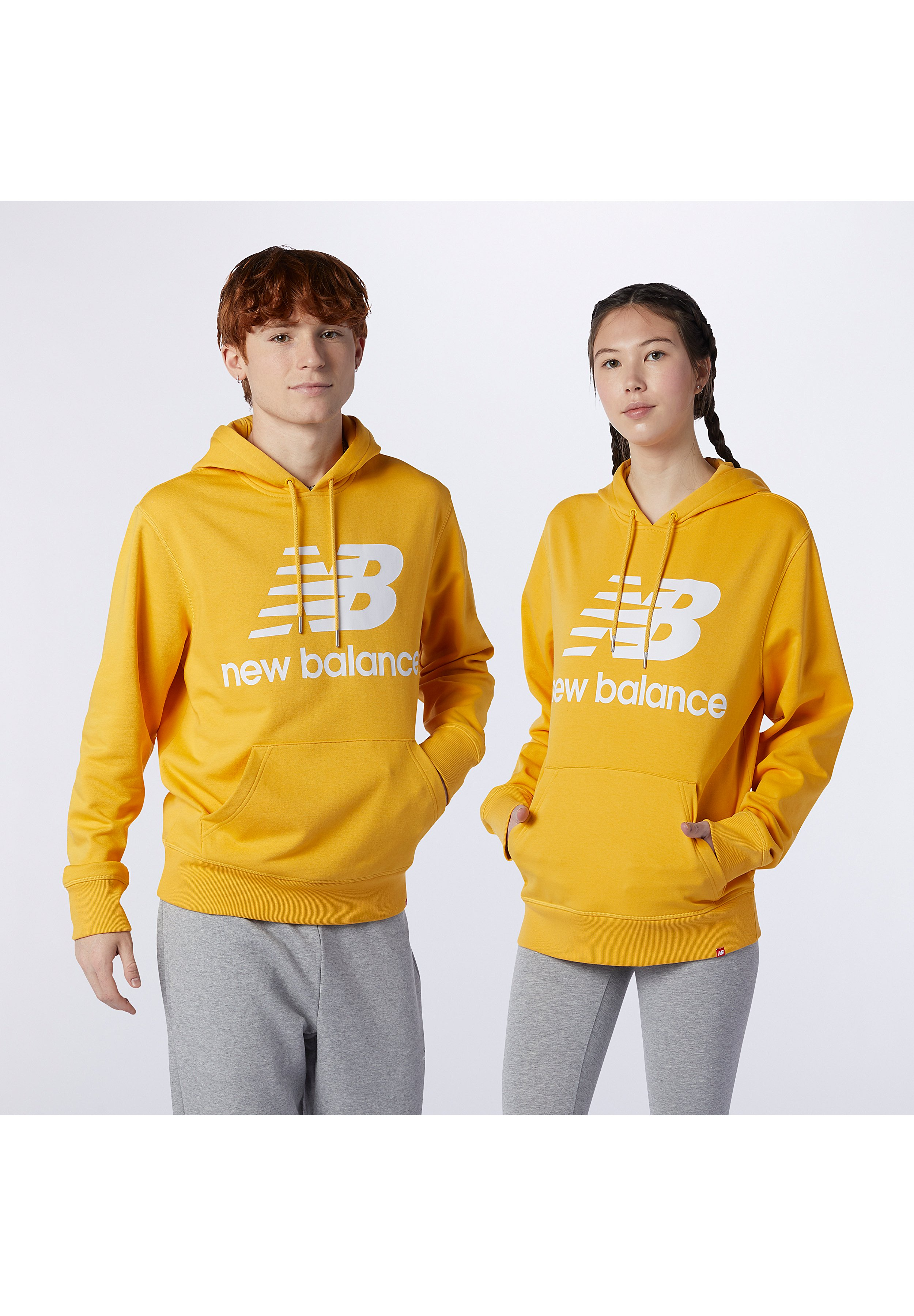 Hombre NB ESSENTIALS STACKED LOGO PO HOODIE - Jersey con capucha
