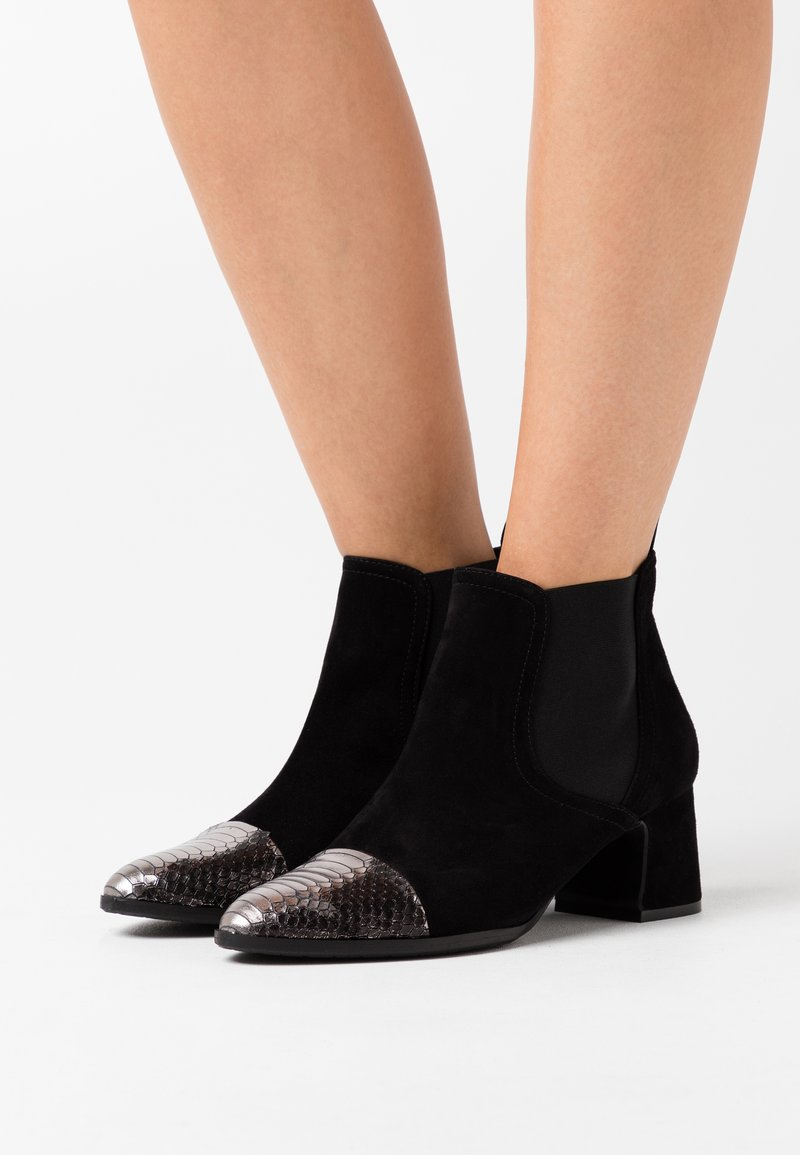 Alberto Zago - Ankle boot - argento/nero