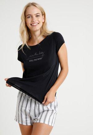 CREW NECK - Pyjama top - blau/schwarz