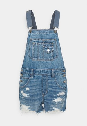 90S SHORTALL - Dungarees - medium vintage wash