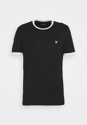 RINGER - T-shirt med print - jet black/white
