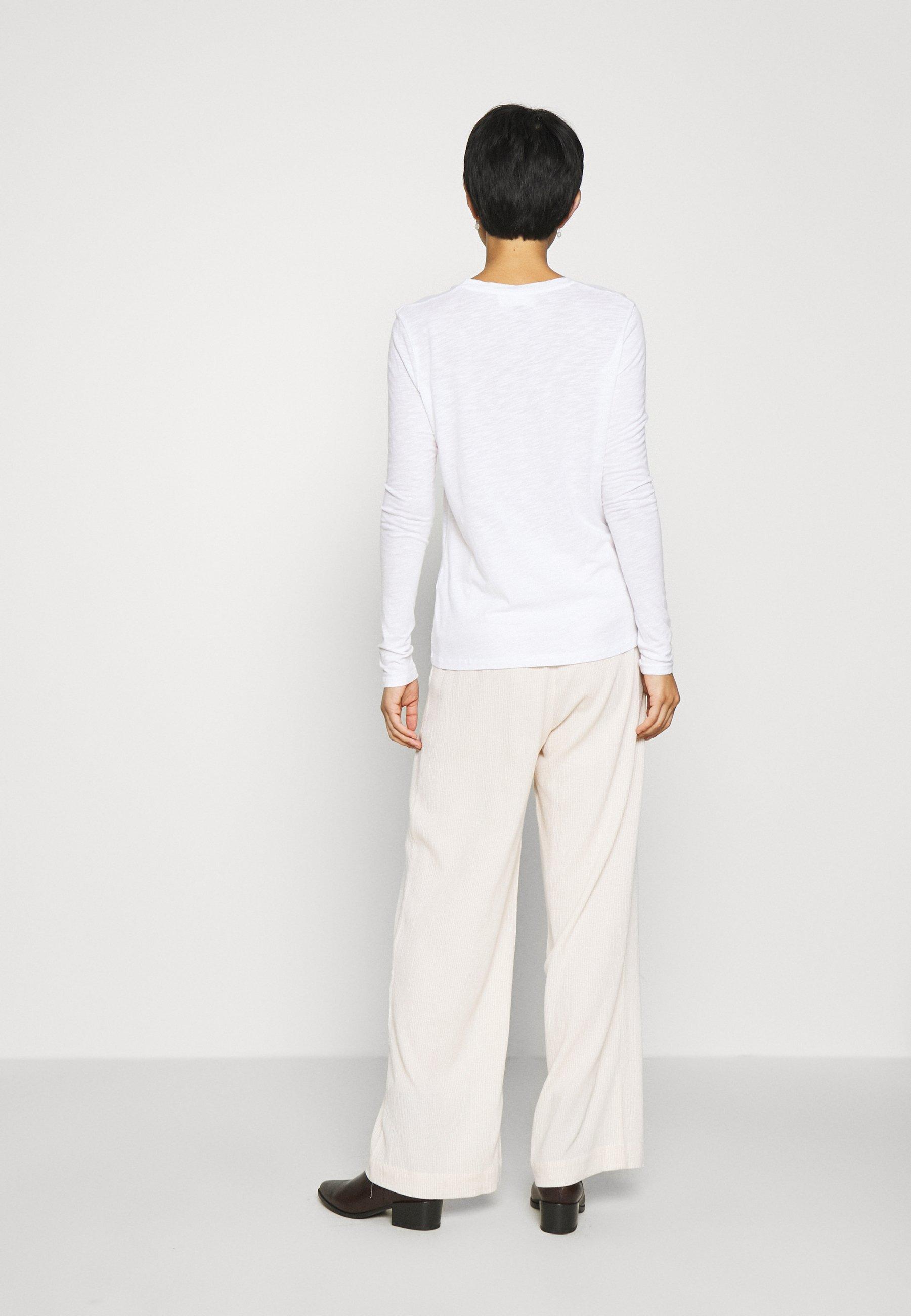 American Vintage JACKSONVILLE - Maglietta a manica lunga - blanc - Abbigliamento da donna Per Nizza