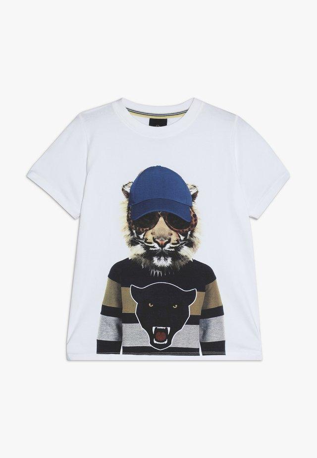 OBER TEE - Camiseta estampada - bright white