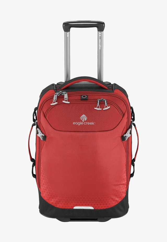 Wheeled suitcase - volcano red