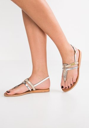 BARAKA - T-bar sandals - oro irise/multicolor
