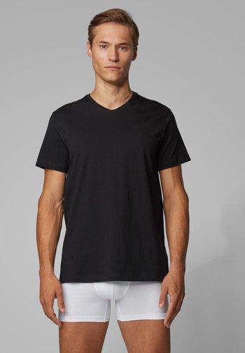 BOSS HERREN UNTERHEMD 2ER-PACK KURZARM - Undershirt - black