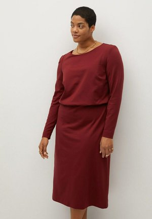 SOPHIE - Jersey dress - granatrot