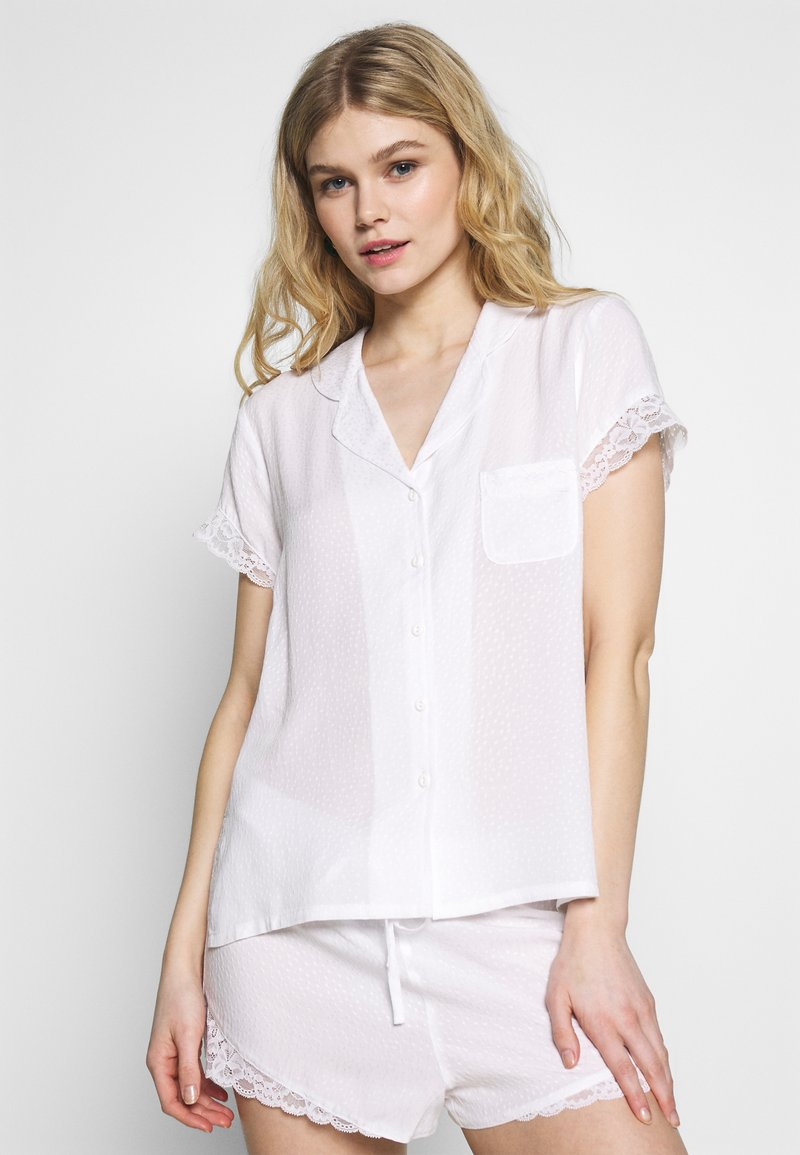 Pour Moi - SPOT MIX REVERE COLLAR - Pyjamasoverdel - white