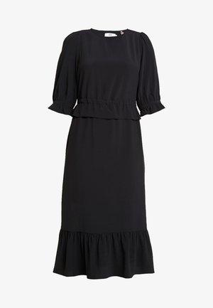 DRESS LONG SLEEVE - Denní šaty - black