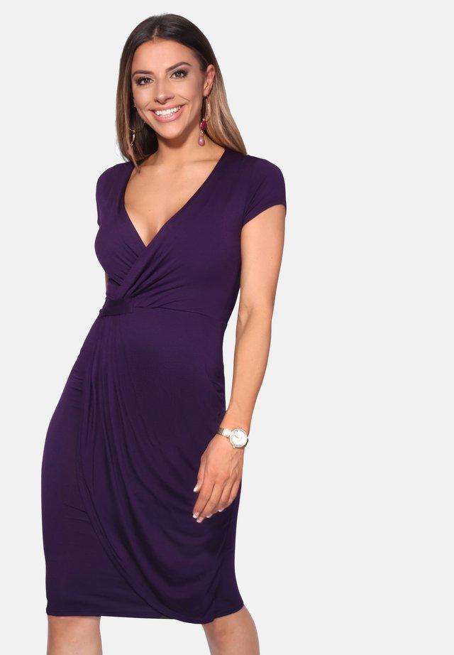 CAP SLEEVE - Jersey dress - purple