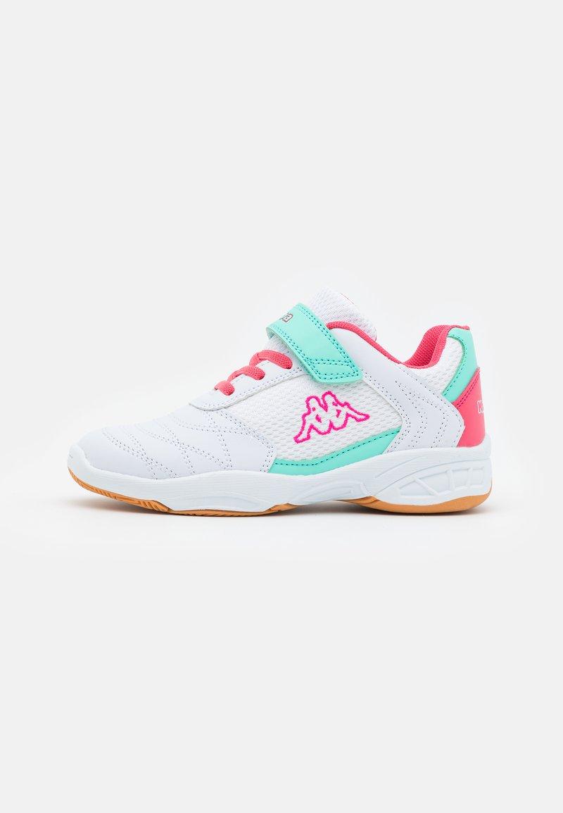 Kappa - DROUM II UNISEX - Sports shoes - white/pink