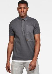 G-Star - ARRIS POCKET - Polo shirt - lt shadow - 0