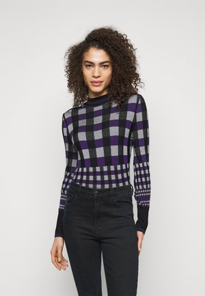 ROXANNE - Jumper - purple/white