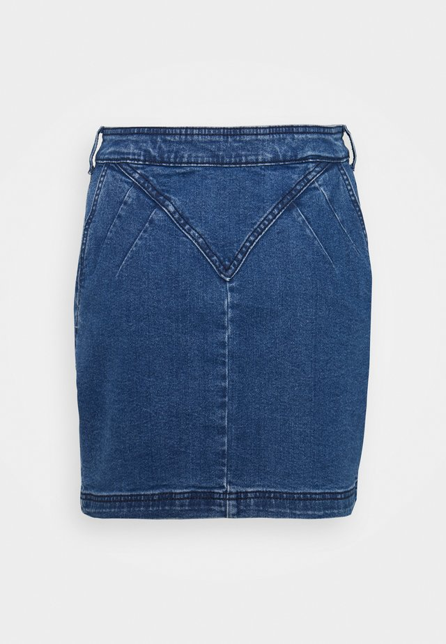 NMINCI CUT DETAIL  - Minigonna - medium blue denim