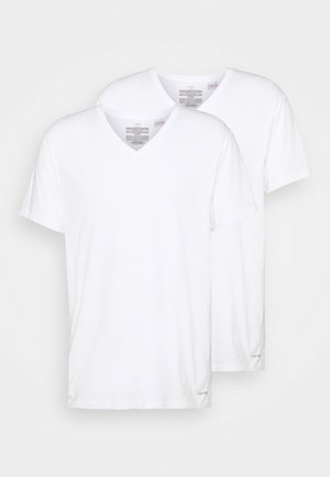 COTTON CLASSICS V NECK 3 PACK - Maglietta intima - white