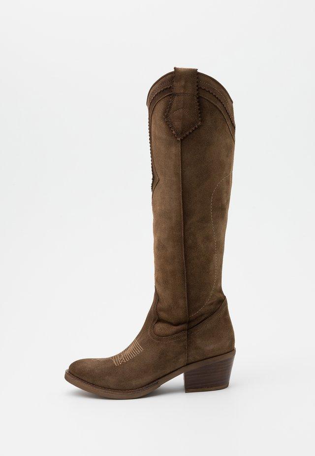 Cowboy/Biker boots - cortina taupe