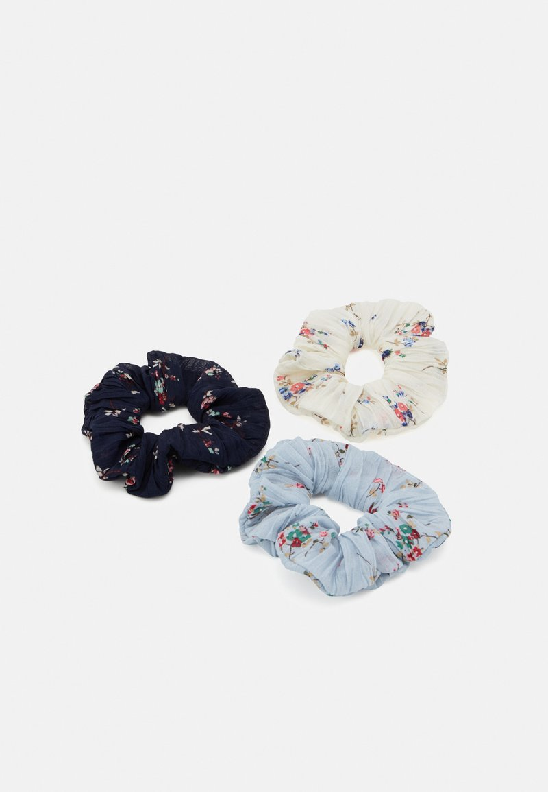 Pieces - PCFLOWY SCRUNCHIE 3 PACK - Hair styling accessory - navy blazer