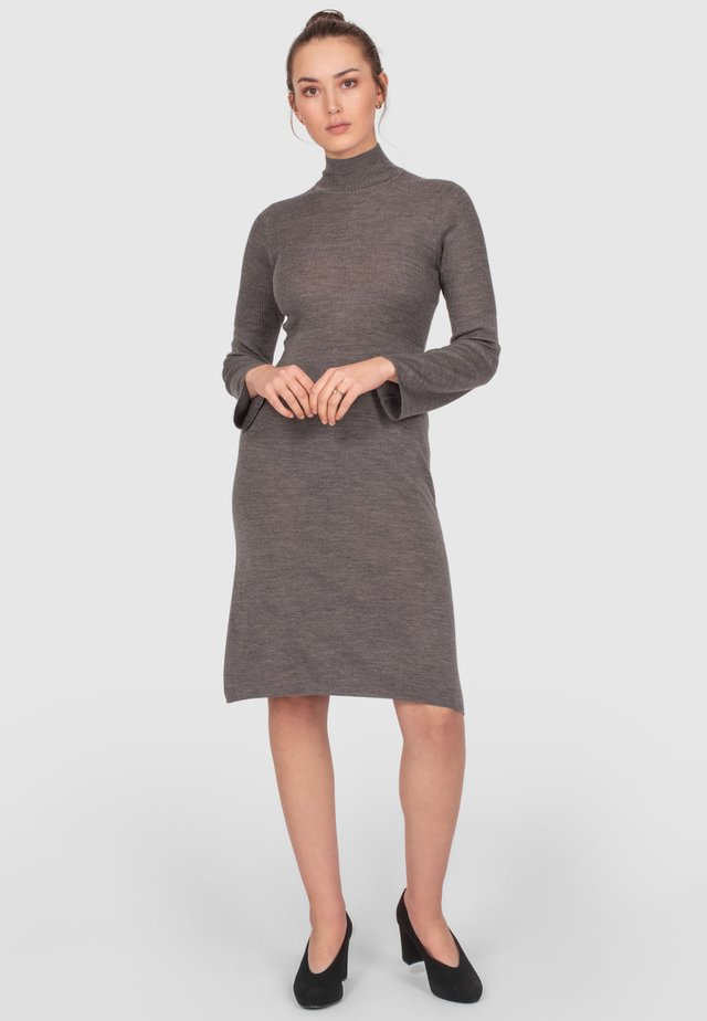 Shift dress - grey melange