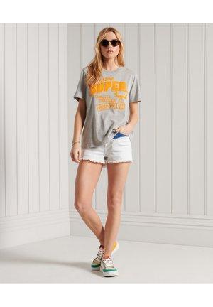 GRAPHIC  - Print T-shirt - light grey marl
