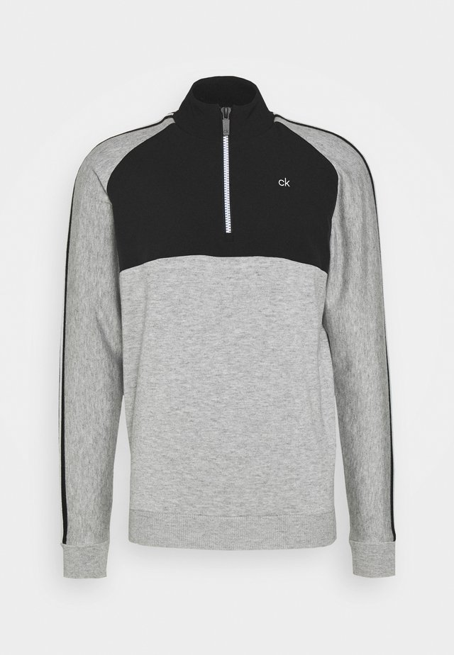 GLACIER HALF ZIP - Stickad tröja - grey marl