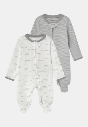 2 PACK UNISEX - Sleep suit - white