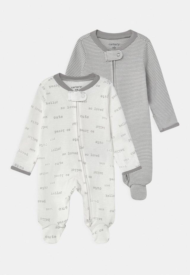 2 PACK UNISEX - Sleep suit - white