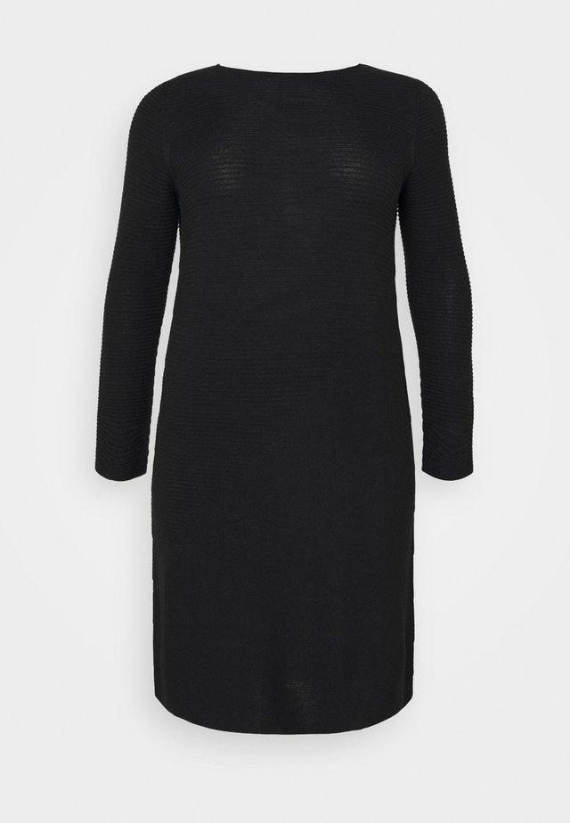 GANGE - Gebreide jurk - black